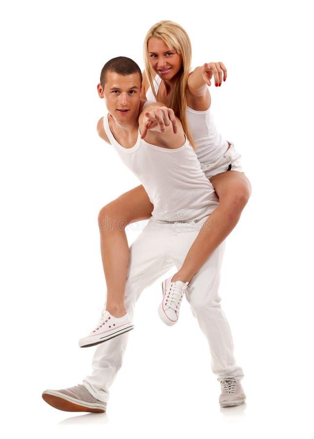 Couple having fun royalty free stock photos
