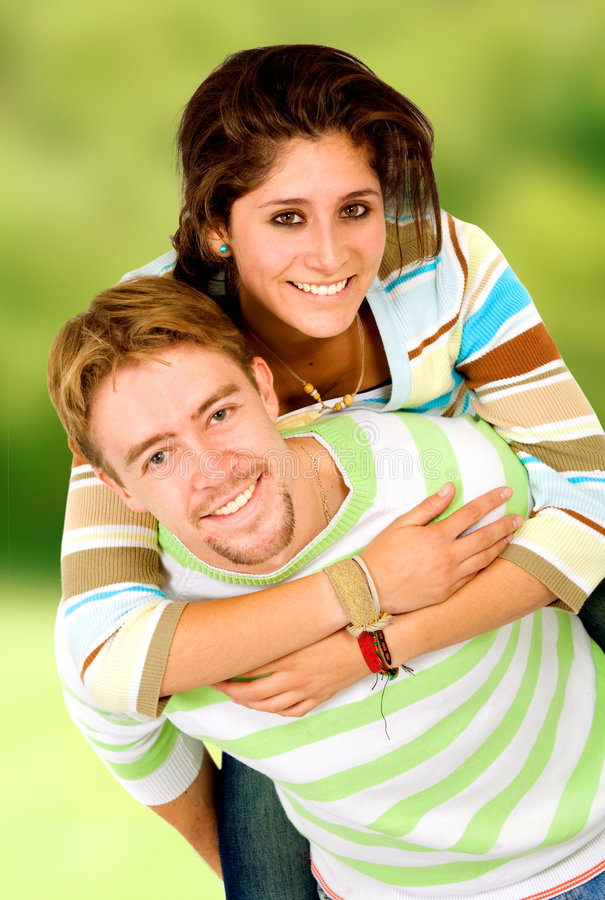 Download Couple having fun stock photo. Image of cute, piggyback - 2653056