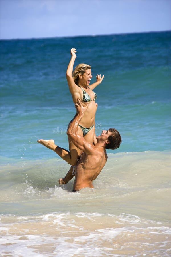 Download Couple having fun. stock photo. Image of girlfriend, maui - 3612854