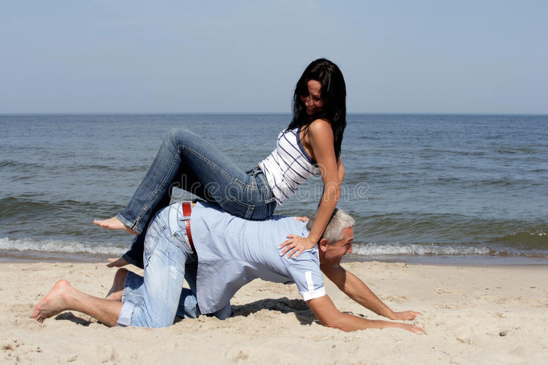 Download Couple Having Fun On The Beach Stock Images - Image: 11077184