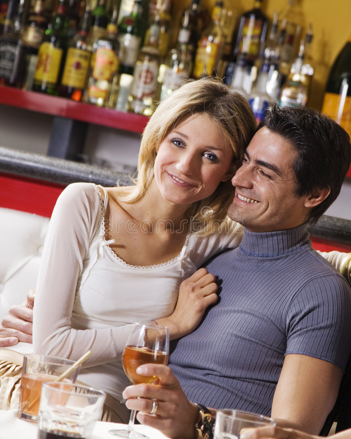 Couple having fun together stock image