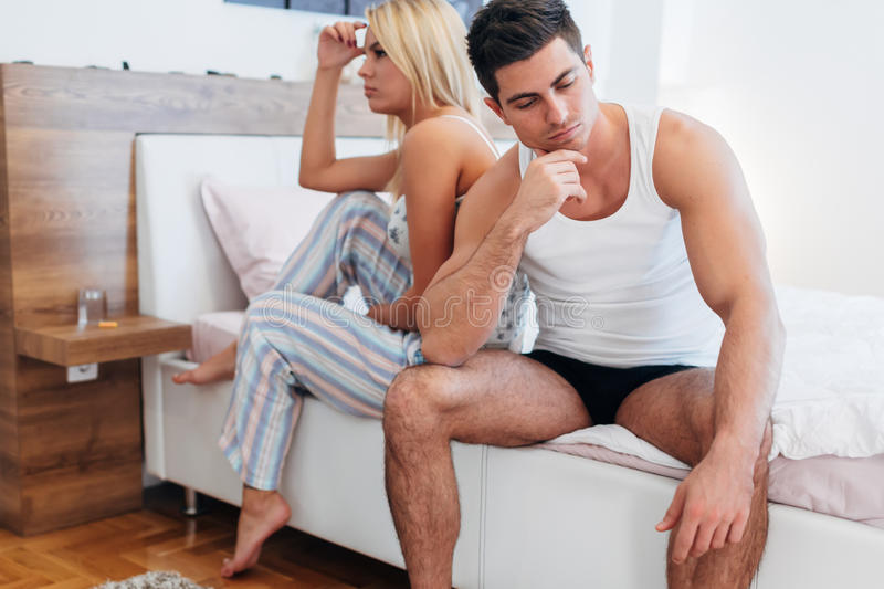 Couple having problems bonding. And rejuvenating their sexual drive stock images