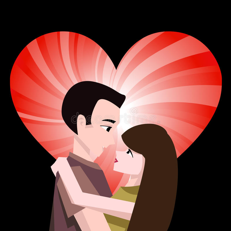Download Couple with heart stock vector. Image of passion, shape - 18237906