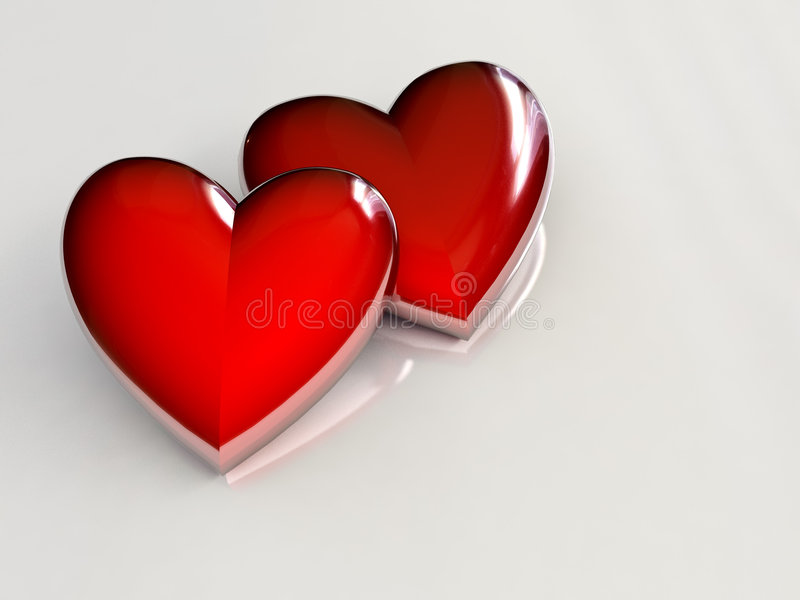 Couple of hearts royalty free stock photography
