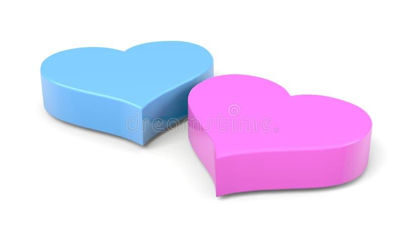 Couple of Hearts stock illustration
