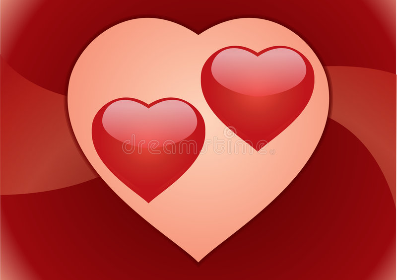 Download Couple Hearts. Postcard Royalty Free Stock Photography - Image: 8749547