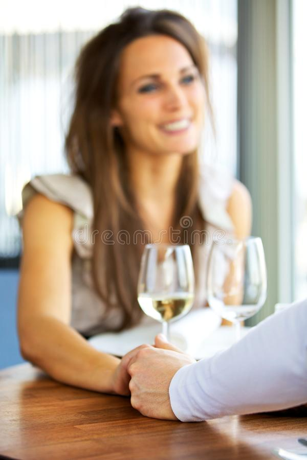 Couple Holding Each Other's Hands royalty free stock image