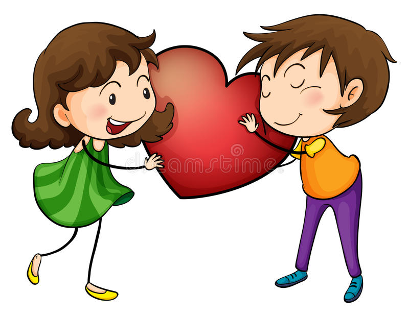 Couple holding a heart