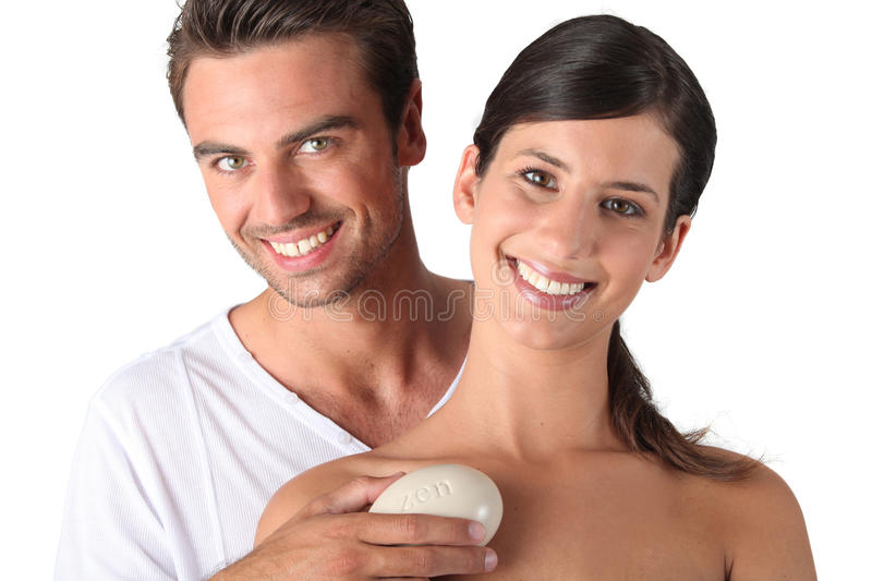 Download Couple holding pebble stock image. Image of sunny, stone - 24217475