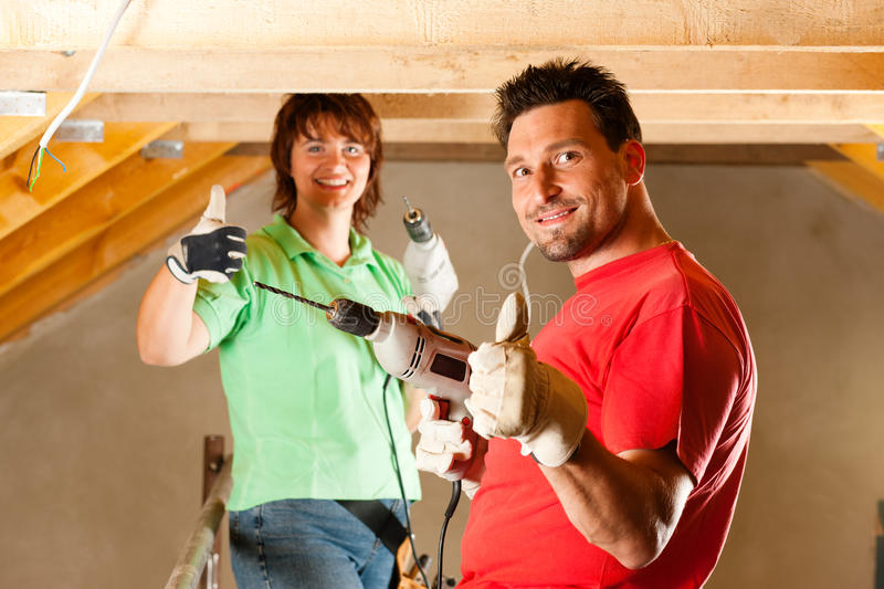 Download Couple in home improvement stock photo. Image of real - 16976704