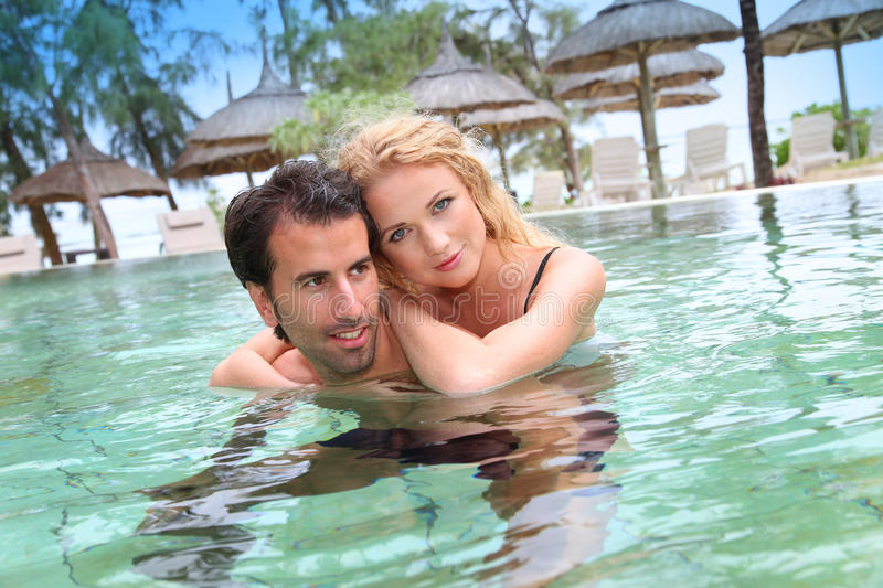 Download Couple in honeymoon stock image. Image of trees, swimming - 22222131