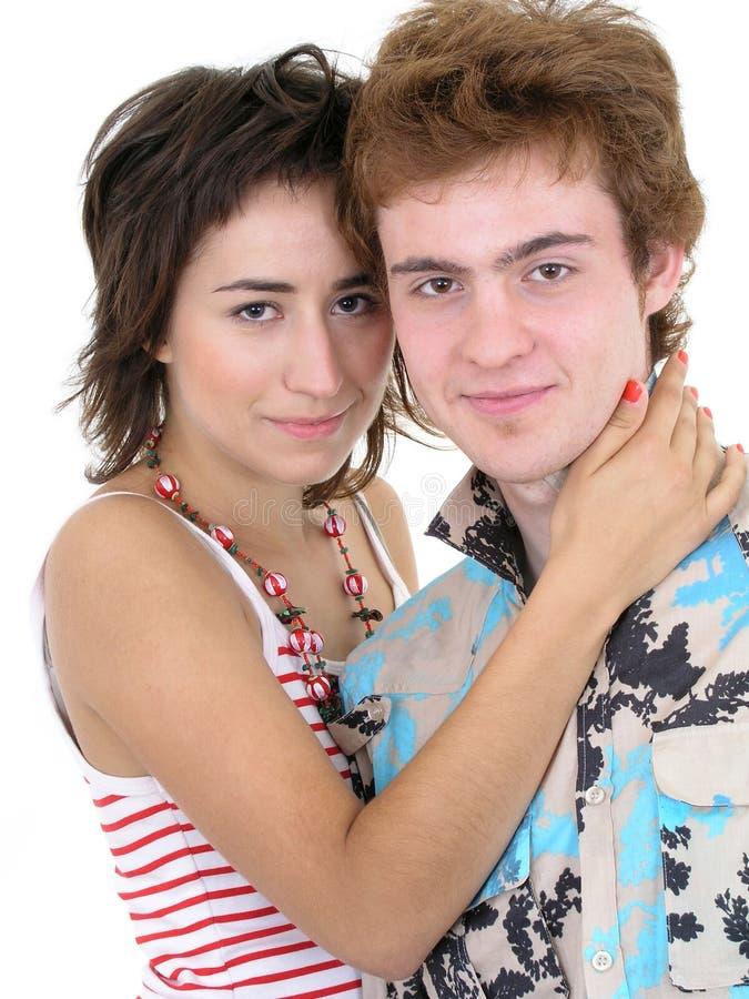 Couple hugging royalty free stock image