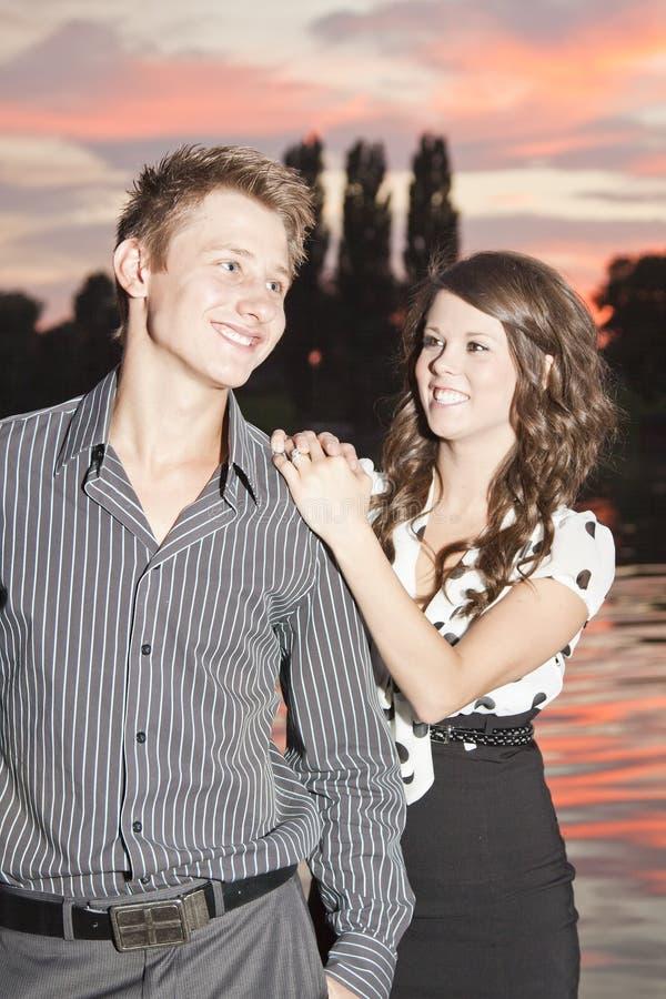 Couple Hugging Stock Photography