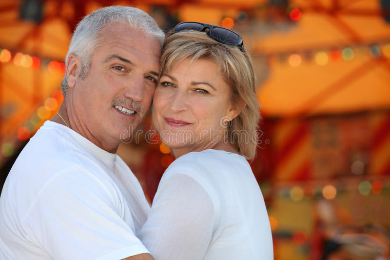 Couple Hugging On Holiday Royalty Free Stock Photography