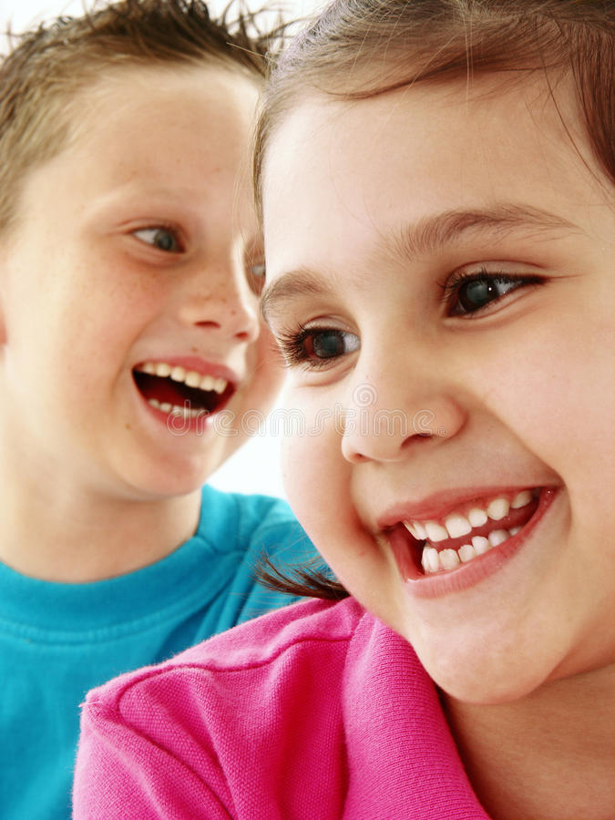 Couple kids. stock images