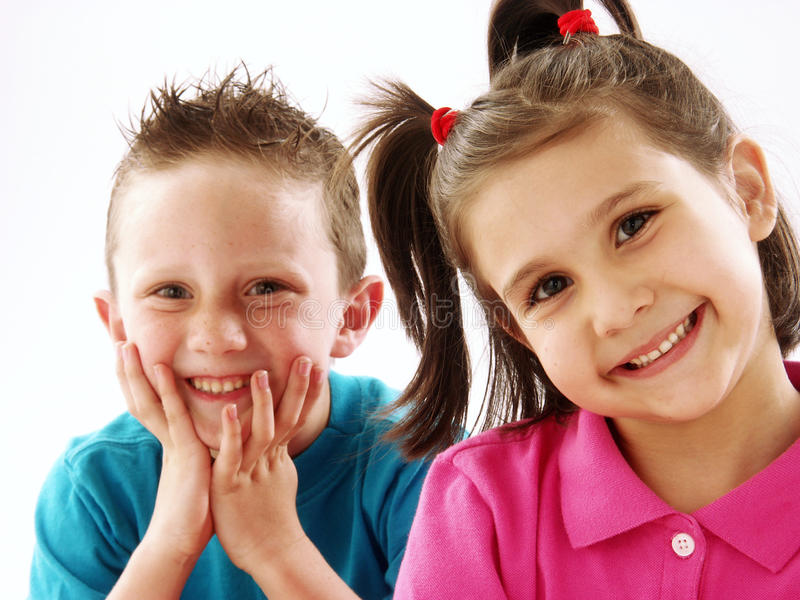 Couple kids. royalty free stock photography