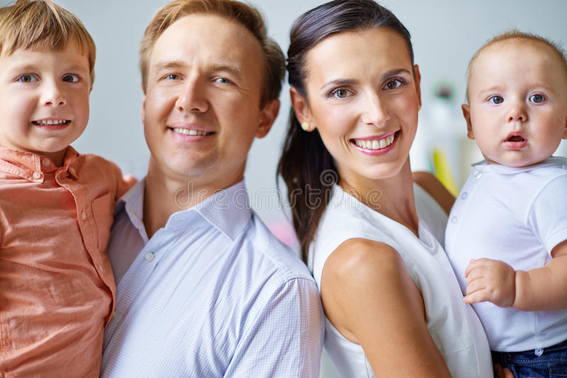 Download Couple with kids stock image. Image of mother, parents - 34412997