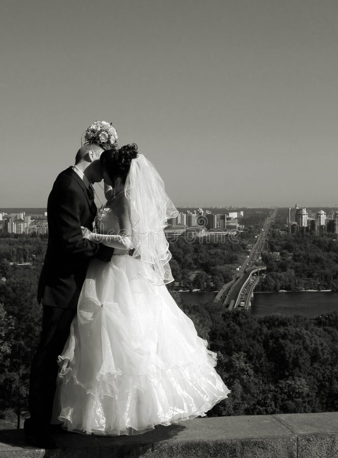 Download Couple kissing stock photo. Image of bride, male, bouquet - 4739530