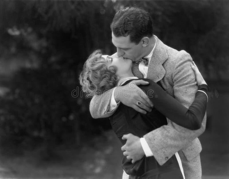 Couple kissing passionately royalty free stock photos