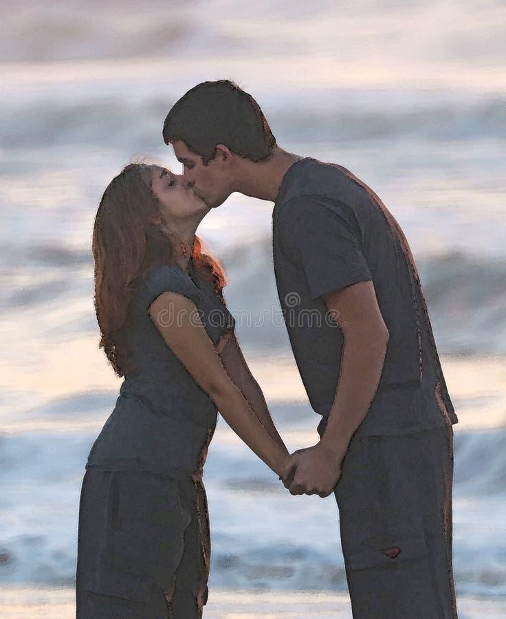 Couple Kissing By Sea Free Public Domain Cc0 Image