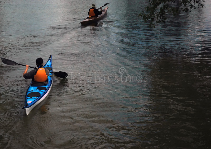 Download Couple on the lake stock image. Image of paddle, outdoors - 151013