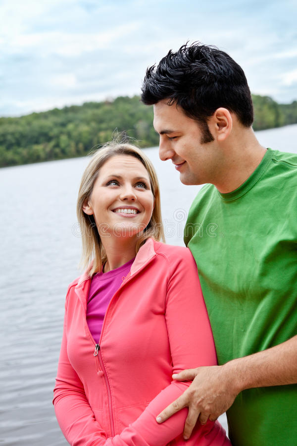 Download Couple at the Lake stock image. Image of nature, middle - 22878861