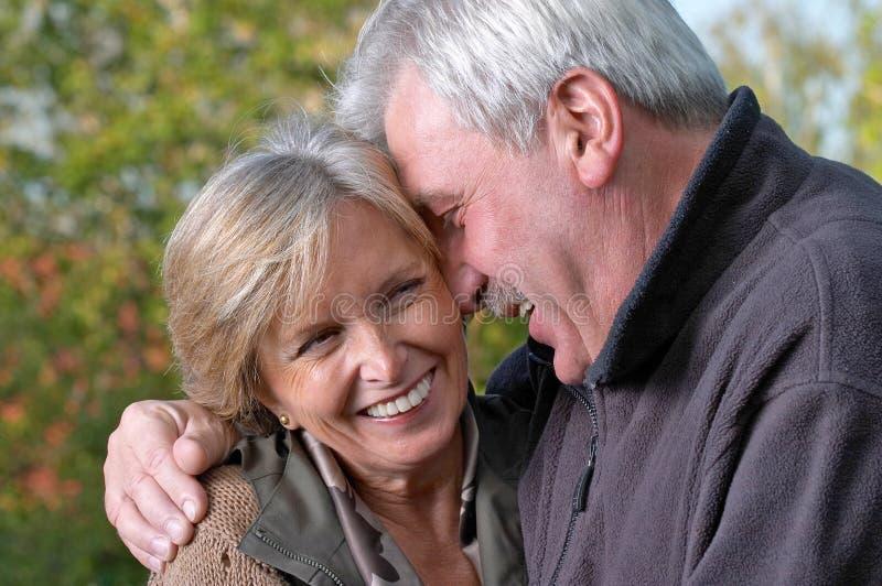 couple laughing mature στοκ εικόνες