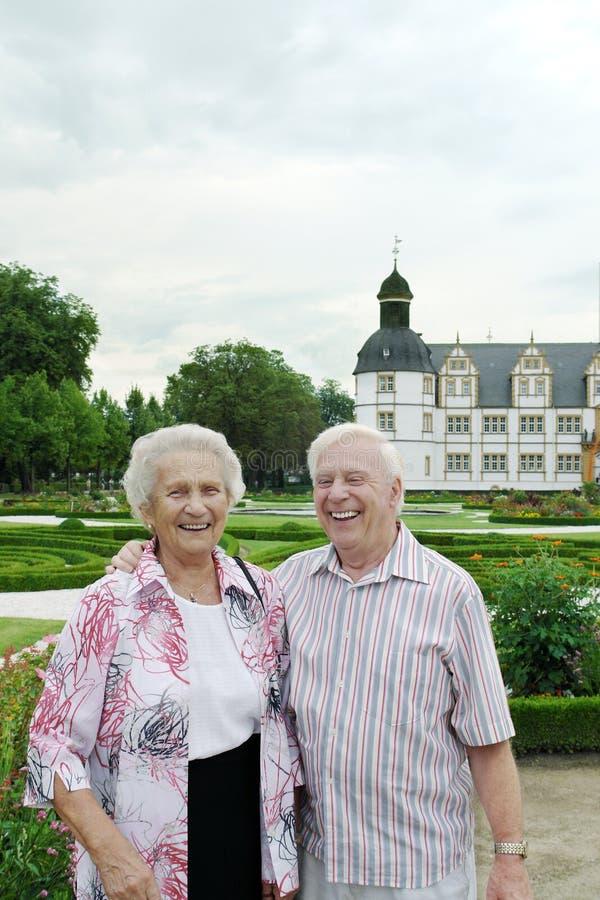 couple laughing senior στοκ εικόνα