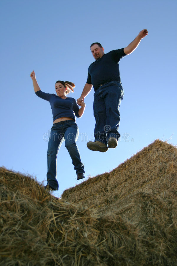 Download Couple Leap of Faith stock photo. Image of background, jump - 122948
