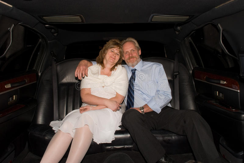 Download Couple in Limousine stock image. Image of black, smiling - 13726075