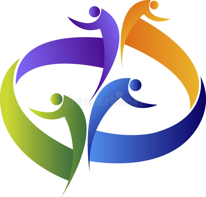 Couple logo stock illustration
