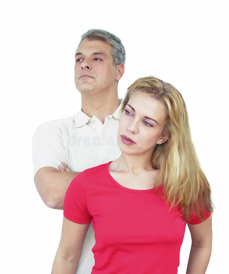 Couple looking away royalty free stock photos