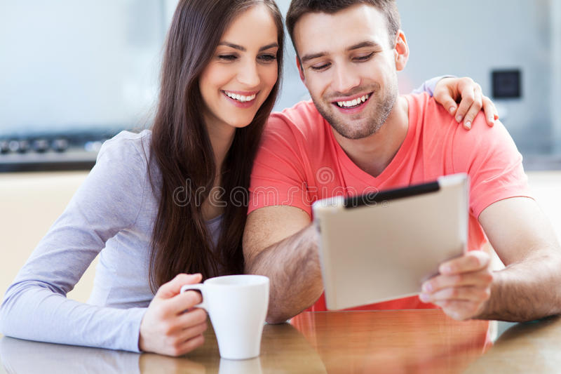 Download Couple Looking At Digital Tablet Royalty Free Stock Images - Image: 30835209