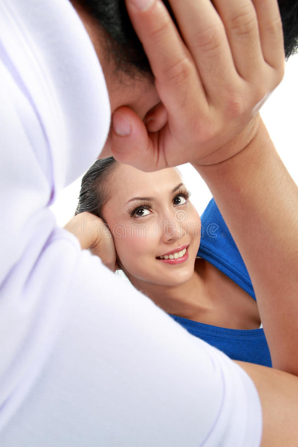 Download Couple looking each other stock image. Image of happy - 24237389