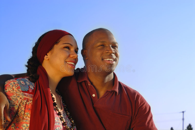 Couple looking forward royalty free stock images