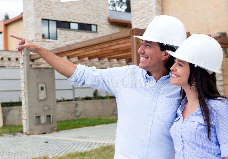 Download Couple looking at houses stock image. Image of civil - 26949771