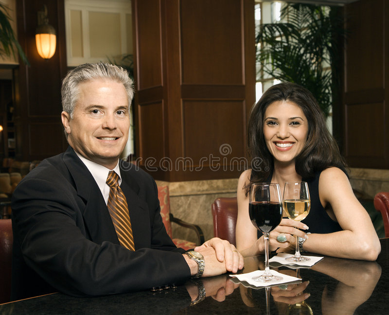 Couple looking at viewer. stock photography