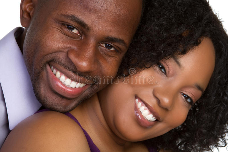 Couple in Love. Beautiful black couple in love stock photos