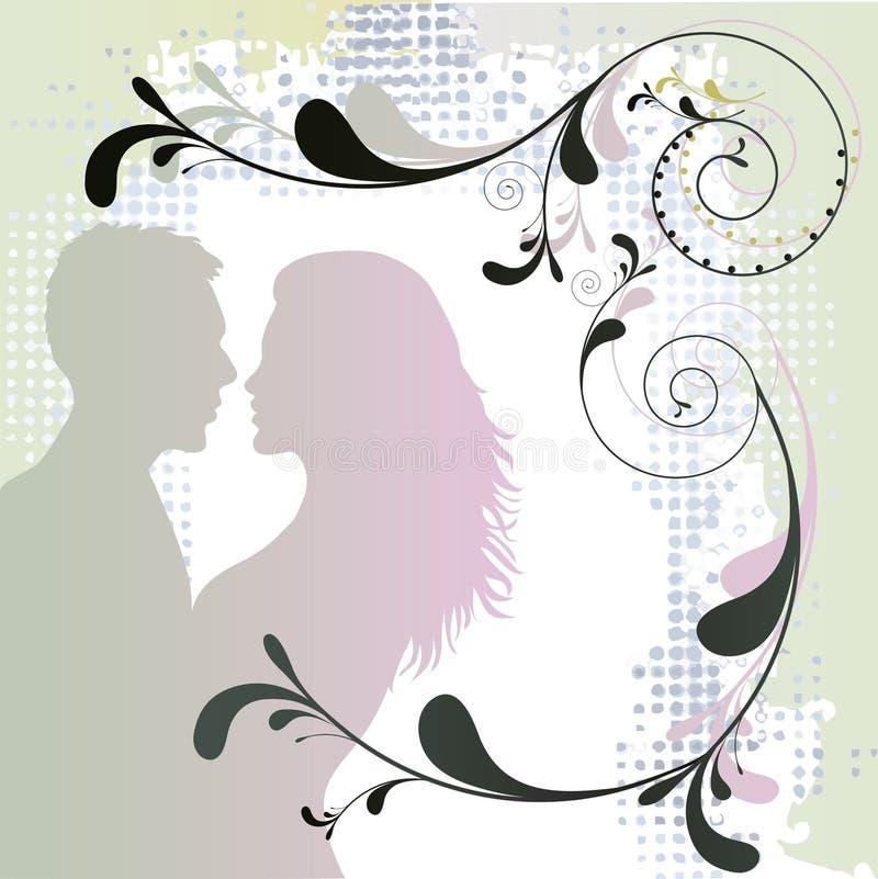 Couple in love stock illustration