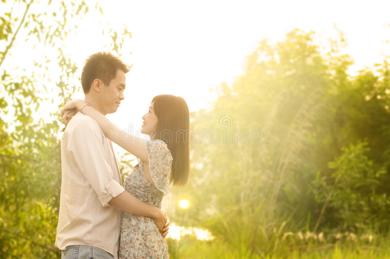 Download Couple in love stock photo. Image of girl, bonding, green - 19159036