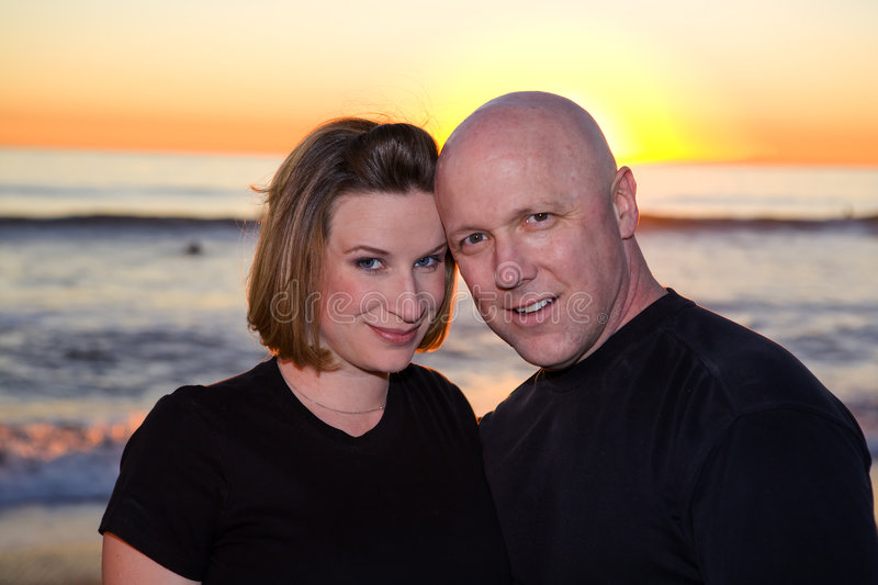 Couple in Love. In San Clemente during Sunset royalty free stock photos
