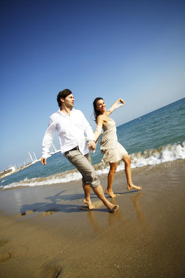 Download Couple in love on beach stock photo. Image of couple - 23615046