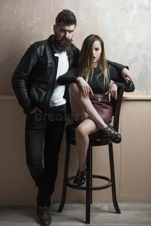 Couple in love building relations on mutual trust and love. Family union and trust stock photography