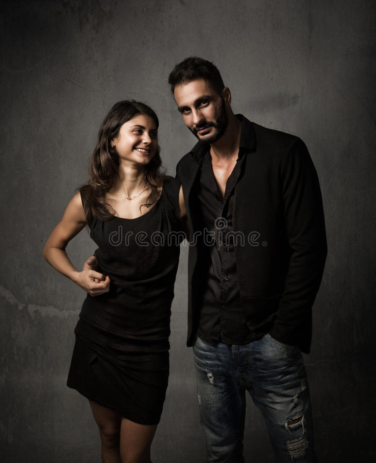 Couple in love concept stock photo