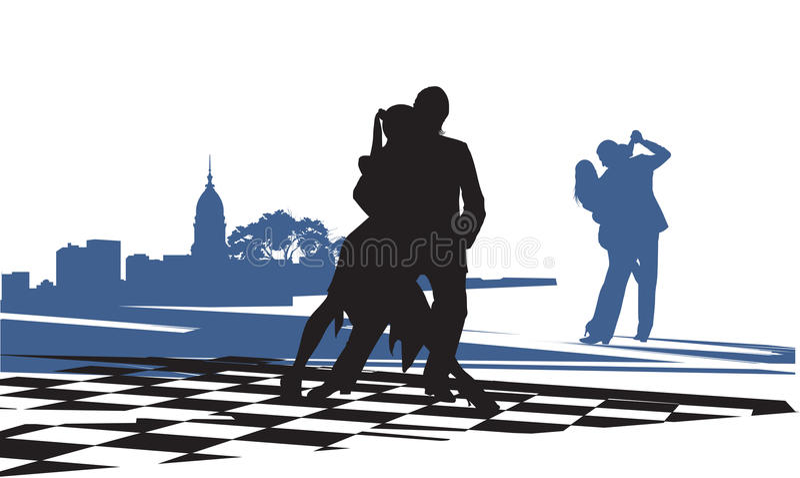 Couple in love dancing tango