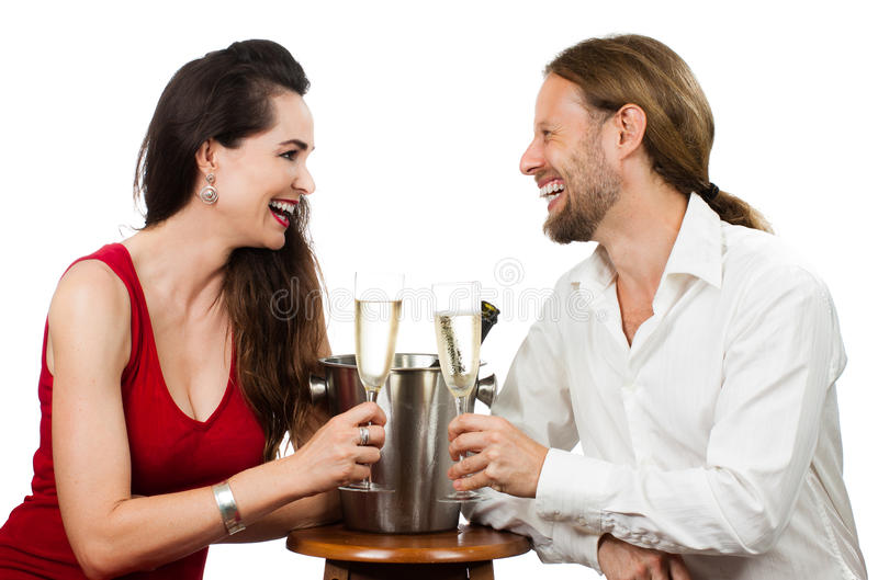 Couple In Love Doing Cheers Royalty Free Stock Images