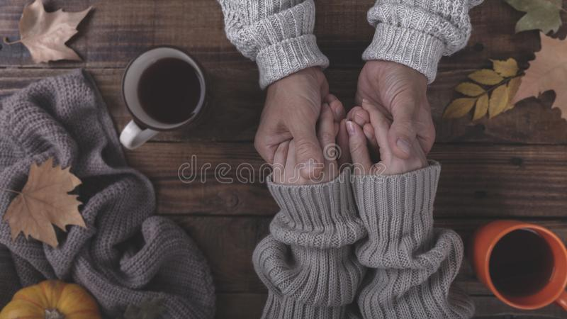 Couple in love holding hands royalty free stock images
