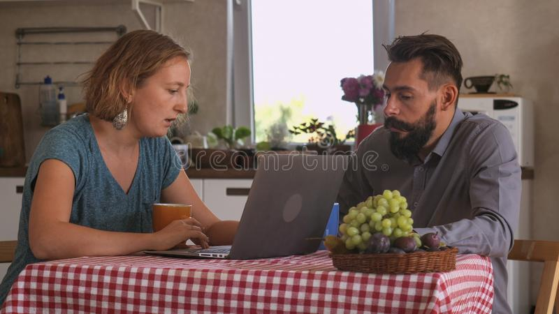 Couple in love at home. royalty free stock image