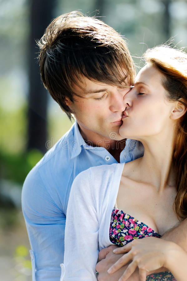 Download Couple In Love Kissing And Hugging Stock Image