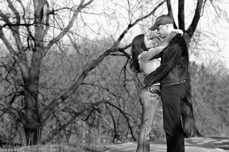 Couple In Love Monochrome Royalty Free Stock Photography